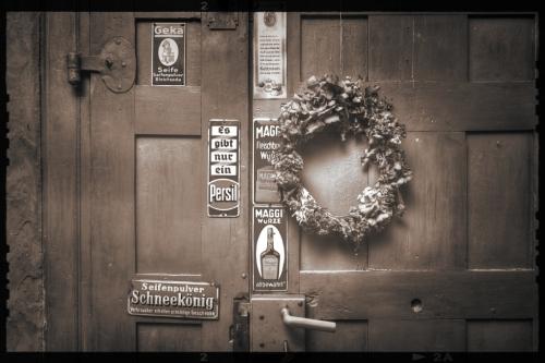 Fotografie Kolonialwaren Geschäft